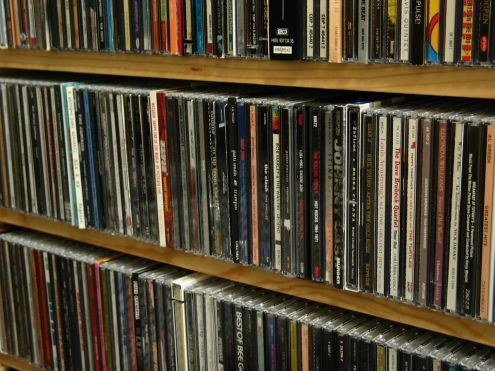 Just another shelf of CDs...