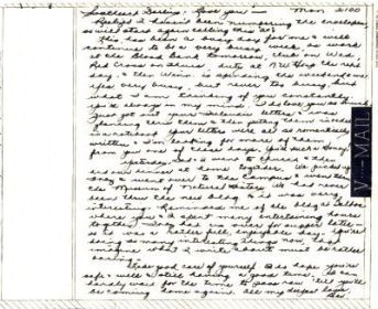 Bev to Ande: V-Mail of 12 April 1943