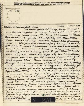 Bev to Ande: V-Mail of 12 May 1943