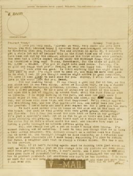 Bev to Ande: V-Mail of 14 June 1943