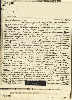 Bev to Ande: V-Mail of 17 May 1943