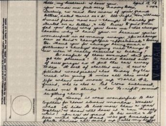 Bev to Ande: V-Mail of 19 April 1943