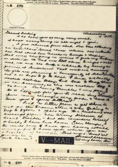 Bev to Ande: V-Mail of 26 May 1943