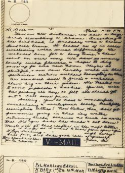 Bev to Ande: V-Mail of 27 May 1943 (part two)