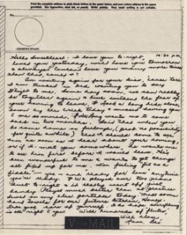 Bev to Ande: V-Mail of 28 April 1943