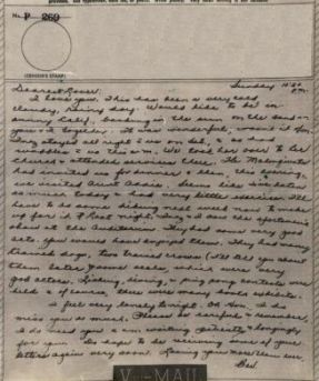Bev to Ande: V-Mail of 2 May 1943