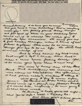 Bev to Ande: V-Mail of 4 May 1943