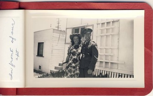 Bev & Ande in Mission Beach, 1942