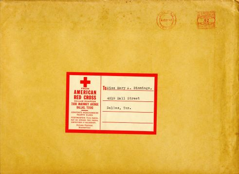 Red Cross Certificate: envelope front