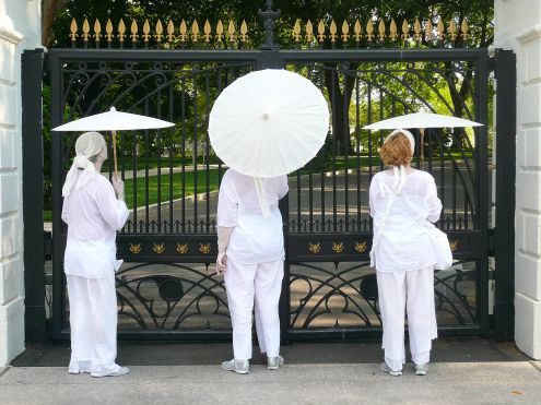 Butoh protestors at the White House gates