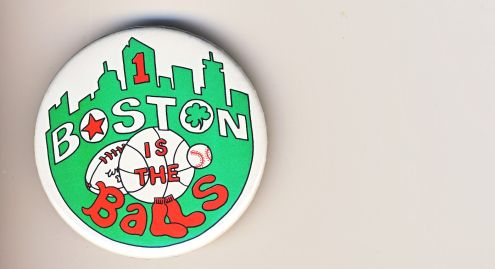 Boston is the Balls button