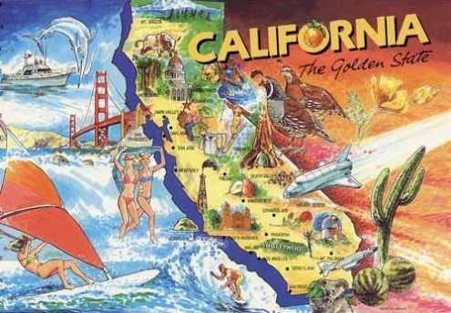 California: The Golden State (postcard image)