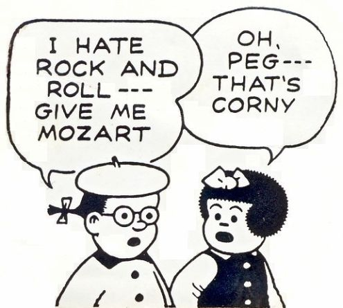 Ernie Bushmiller's Nancy: Peg, that's corny!