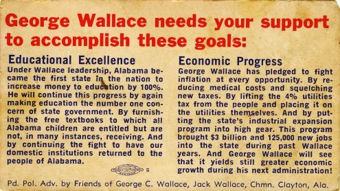 George Wallace: Our Kind of Man (back)