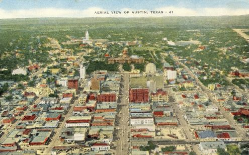 Postcard: Aerial View of Austin