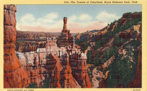 Postcard: Towers of Fairyland, Bryce National Park