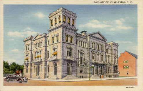 Postcard: Post Office, Charleston, SC
