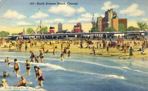 Postcard: North Avenue Beach, Chicago