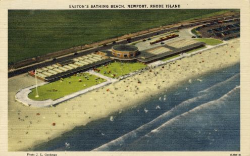 Postcard: Easton's Bathing Beach, Newport, Rhode Island