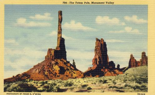 Postcard: The Totem Pole, Monument Valley