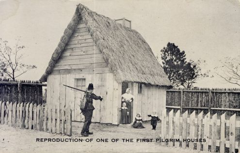Postcard: Pilgrim House Replica