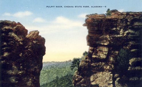 Postcard: Pulpit Rock, Cheaha State Park, Alabama
