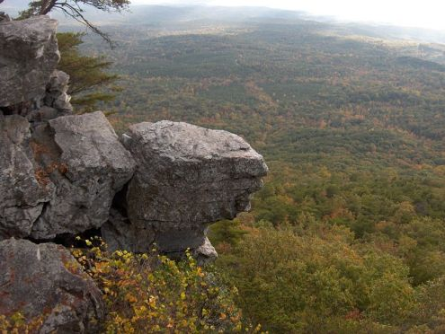Postcard: The view from Pulpit Rock, Cheaha State Park, Alabama