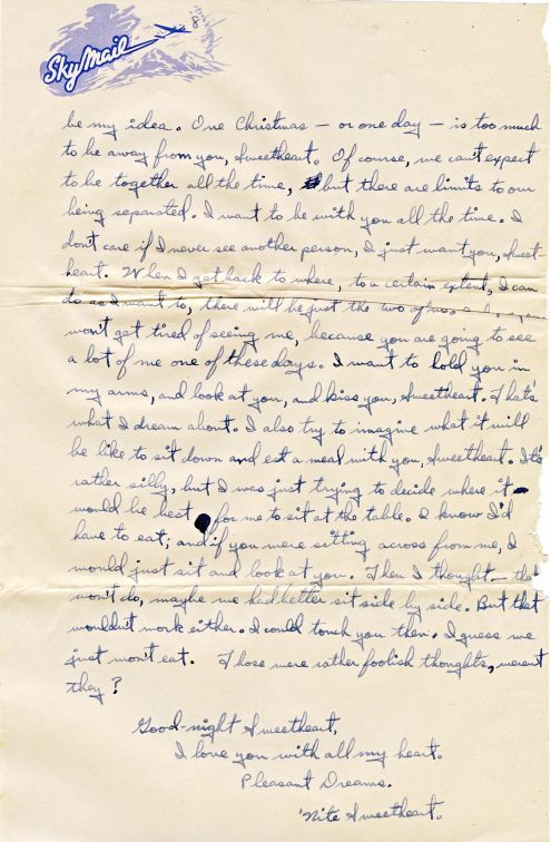 Richard to Alice: 25 December 1944 (letter 1)