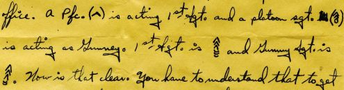 Richard to Alice: 5 December 1944 (detail)