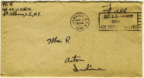 Richard to Alice: 3 April 1946 (envelope)