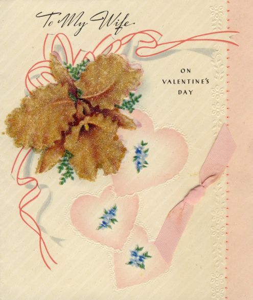 Richard to Alice: Valentine's Day 1946 (front of card)