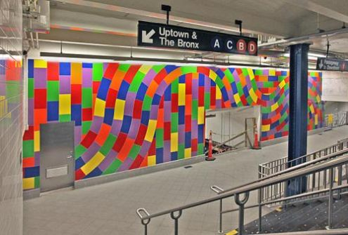 Sol LeWitt's Whirls and Twirls in New York's Columbus Circle MTA station