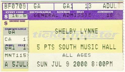 Shelby Lynne, Birmingham, 9 July 2000