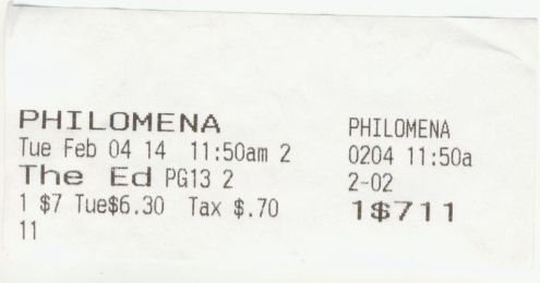 020414 Philomena ticket stub